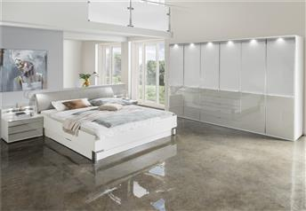 Stylform NYX bedroom set - choice of glass or mirrors - optional storage for bed