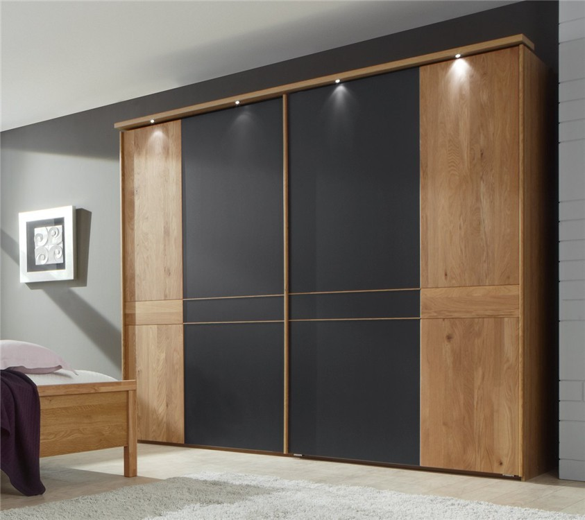 Stylform Aura - Solid Oak and Mocca finish Sliding door - Head2Bed UK