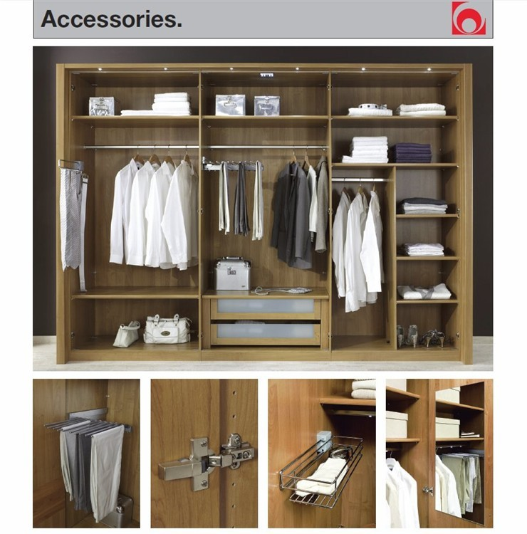Stylform aura solid oak and mocca finish sliding door for 4 door wardrobe interior designs
